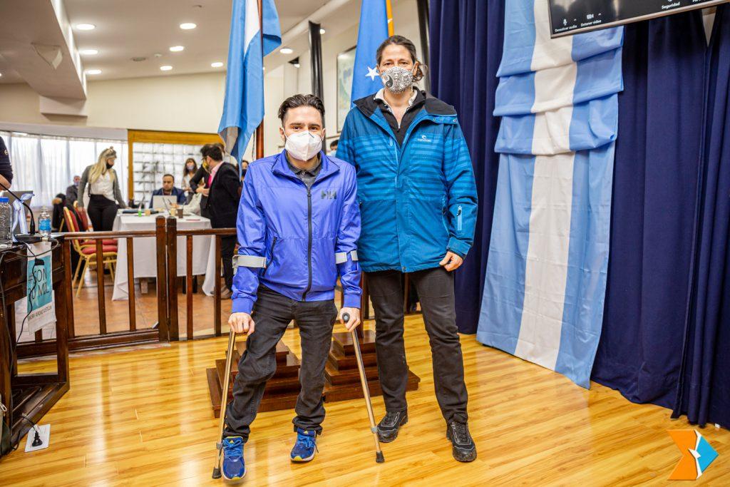 El Parlamento fueguino destacó el logro de Nicolás Lima y su entrenadora María Giró | Editor Central